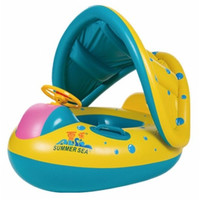 New Safety Inflatable Sunshade Seat Boat Ring-Beach Accessories