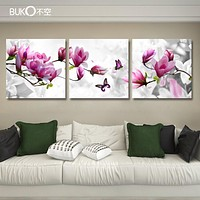 3panel orchid flower art flower canvas painting set paintings modern pictures coloridas decoration for living room wall  modular