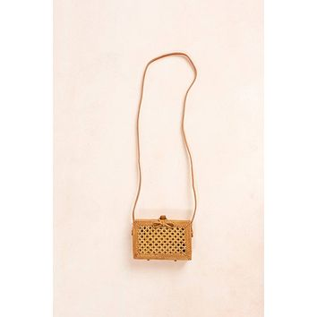 Gwyneth Rectangle Straw Rattan Bag
