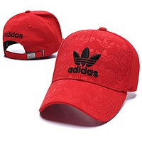 Adidas Summer Women Men Embroidery Sports Sun Hat Baseball Cap Hat Red