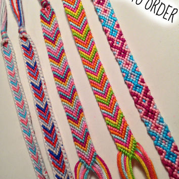 Friendship Bracelet// Pick your Colors and Pattern// Made to Order