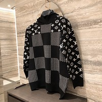 LV Louis Vuitton casual loose turtleneck  Fall Winter Fashion Long Sleeve Pullover