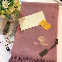 Louis Vuitton Women Fashion Wool Scarf Shawl Scarf Scarves