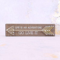 Life Is An Adventure Box Sign - Gifts/Home Decor