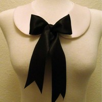 Detachable Peter Pan Collar With Bow by luminia on Etsy