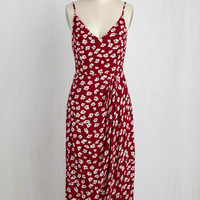 Lanai Must Be Dreaming Dress in Crimson Floral | Mod Retro Vintage Dresses | ModCloth.com