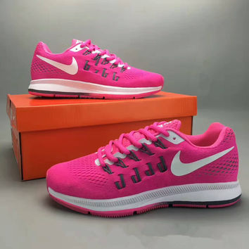 """""""Nike Air Zoom Pegasus 33"""" Fashion Casual Breathable Women Sneakers Running Shoes"""