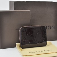 Authentic Louis Vuitton Vernis Zippy Coin Purse Almarante M93607 #S4061 E