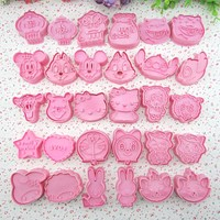 15 Style Mold Mickey Cat Bear etc Fondant Cake tools Cookies Cutter Christmas Cake Decorating DIY 3D Molds Tools