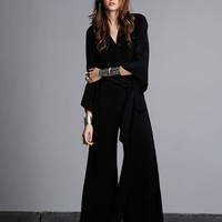 Alexis Angelie Crossover Blouse in Black