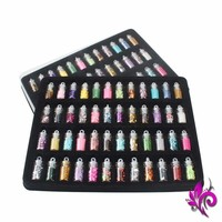 48 Bottles DIY Nail Art Charms Kit