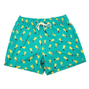 Hula Hula Swim Trunks by Two Left Feet