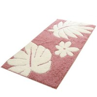 Fluff Door Ground Non-slip Mat Carpet   romantic flowers pink  60*90cm
