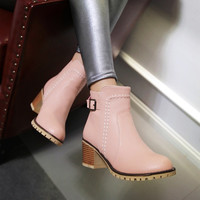 On Sale Hot Deal Casual Plus Size With Heel Boots [6366200196]