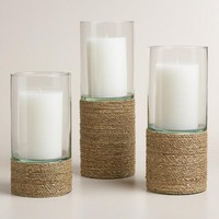 Natural Seagrass Hurricane Candleholder
