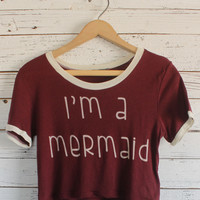Mermaid Crop Tee