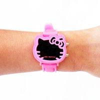 Hello Kitty Womens Watch / Cat Watch / Sanrio Watch / Vegan Leather Watch / Wrist Watch