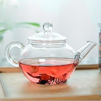 Glass Teapot Heat Resistant Kettle With  Infuser Coffee Flower Tea Leaf Herbal Pot Durable Kettle Gift