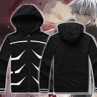HKSNG Cosplay Anime Costume Tokyo Ghoul Kaneki Ken Clothes Hoody Sweater Spring Coat Hoodie Jacket For Women And Men
