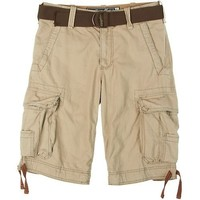 Wearfirst Ripstop Belted Cargo Shorts INDIAN KHAKI 38W