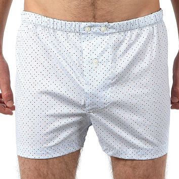 Pale Blue With Red & Blue Print Boxer Short - Mac Size L Available