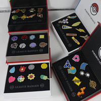 8Pcs/set Pokemon Cosplay Badge Brooch