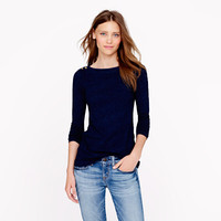 Painter button boatneck tee in indigo - knits & tees - Women's new arrivals - J.Crew