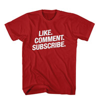 T-Shirt Like Comment Subscribe, Unisex Men Women, Youtuber T-Shirts