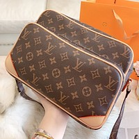 Hipgirls LV Louis vuitton New fashion monogram leather shopping and leisure shoulder bag crossbody bag