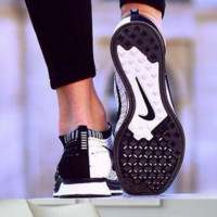 NIKE Women Men Running Sport Casual Suspension movement Shoes Sneakers White