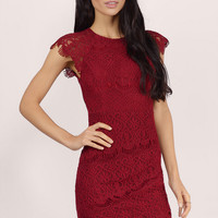 Changing Time Lace Bodycon Dress $60