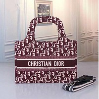 DIOR Women Leather Tote Crossbody Satchel Shoulder Bag Handbag