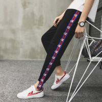 Champion Fashion Stretch Leggings Sweatpants Exercise Fitness Sport Pants Trousers