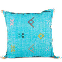Moroccan Cactus Silk Pillow XIX