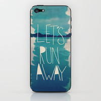 Let's Run Away XI iPhone & iPod Skin by Leah Flores | Society6