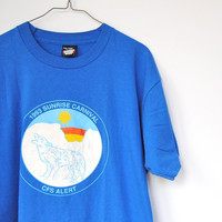 Vintage Wolf T-Shirt, 90s Wolf Graphic, Oversized Tee, Arctic, Canadian North, Unisex