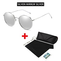 OUTMIX SILVER MIRROR SILVER Oversized Round Polarized Sunglasses for Women or Men Fashion Big Sun Glasses Vintage Glasses For Driving UV400 FREE SHIPPING