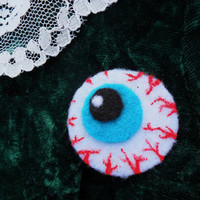 Cute Creepy Halloween Eyeball Pin Badge