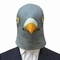 PEAPGB2 Creepy Pigeon Head Mask Latex Prop Animal Cosplay Costume Party Halloween