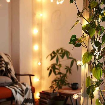 White Cord Globe String Lights