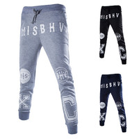 Men's Print Casual Sweat Jogger Pants