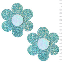 Daisy Pasties in Mint Hologram