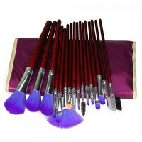 Professional Cosmetic Makeup Brush Set with Bag 16 PC Purple
