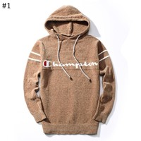 Champion autumn and winter new men's round neck knit long sleeve pullover sweater #1
