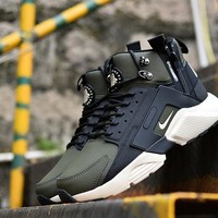 Nike Huarache X Acronym City MID Leather Black White Green - Best Deal Online