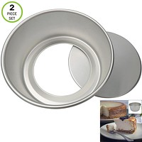 Evelots Cheesecake Pan-Removable Bottom-Round-Easy Release-Oven Safe-2 Piece Set