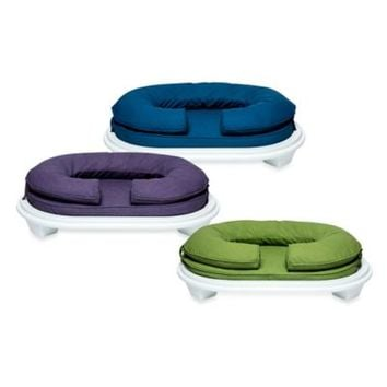 Katherine Elizabeth Lucky Bolster Pet Bed with White Ottoman