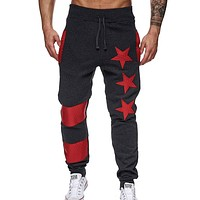 2017 Brand Male Trousers Men Pants Casual Pants Sweatpants Lashing slacks Jogger Black XXL
