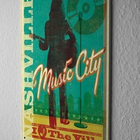 Tin Sign Deco Cinema Nashville music Metal Plate 8X12""