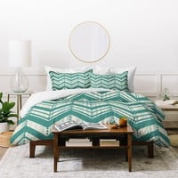 Heather Dutton Weathered Chevron Duvet Cover